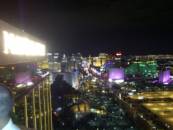 View from the Foundation Room atop Mandalay Bay in Vegas...fun trip...read about at http://southerngaming.com/?p=13095