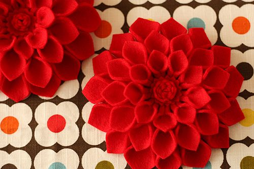 felt dahlia flower pin for mothers day