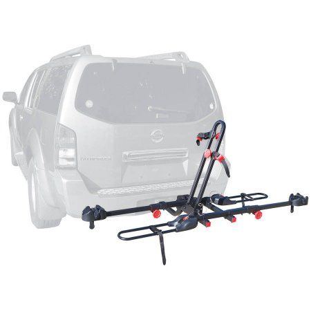 Allen Sports Easy Load Deluxe 2-Bike Hitch Rack for 1 1/4 inch and 2 inch Hitch, Black