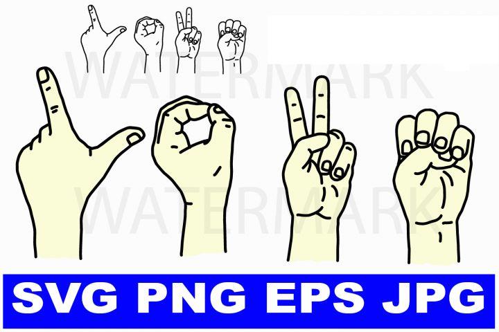 Download I love you in Sign Language - svg png eps jpg | I love you ...