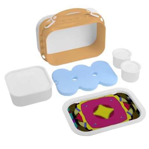 Triangular Dimension 6 Orange yubo Lunch Box : Graysonart : Zazzle.com