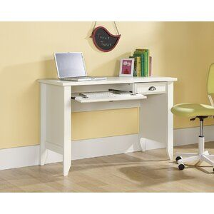 Red Barrel Studio Lillydale Computer Desk Wayfair In 2020 White Computer Desk Desk With Keyboard Tray Home Office Furniture