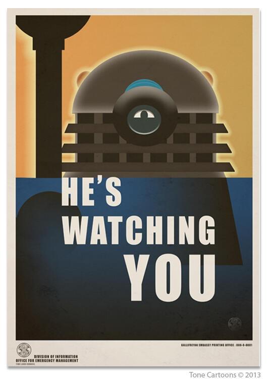 Doctor Who vs. 1984.   Big Brother Dalek