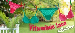 Vitaminic Lace Collection!!   Pizzo fluo...varianti menta e lampone!
