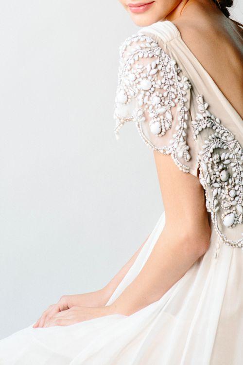 Bridal gown detail [by Meghan Kay Sadler]