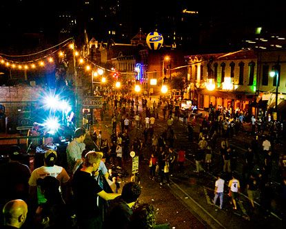 Sixth street, maybe the most famous street in Austin, is a nightlife enthusiasts' dream, with blocks of bars and clubs boasting live music of all genres.