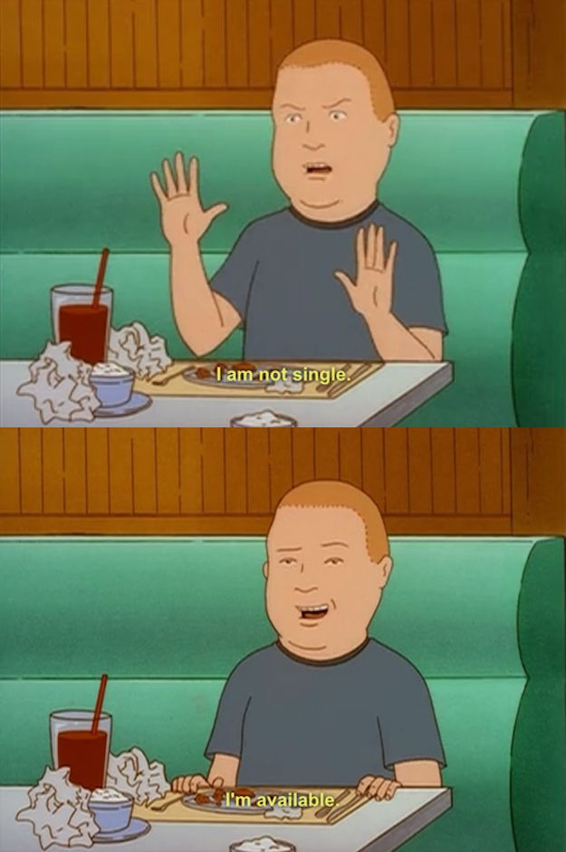 He's always looking on the bright side. | 26 Reasons We Should All Be More Like Bobby Hill
