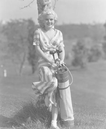 Jean Harlow #golf  Now that's what I call fashion on the golf course.  It's about more than golf,  boating,  and beaches;  it's about a lifestyle.   www.PamelaKemper.com KW