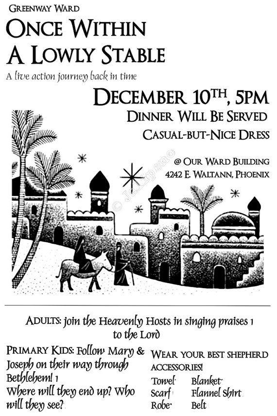 A Night in Bethlehem Poster Advertisement Digital CUSTOM