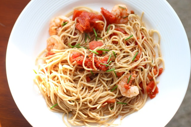 May 17th, Wraps/Stuffed Dishes: Shrimp Pasta in a Foil Packet.