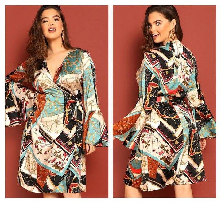 1c6c1a06f0a  stylishadvisor posted to Instagram  Geometric Print Wrap Dress 😍 .   boutiqueshopping  boutiquefashion