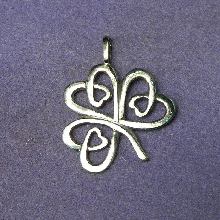 Celtic Shamrock silver lucky charm pendant by YANKA-arts-n-crafts.deviantart.com on @deviantART