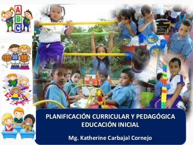 TA  PLANIFICACIÓN CURRICULAR Y PEDAGÓGICA  EDUCACIÓN INICIAL  Mg. Katherine Carbajal Cornejo