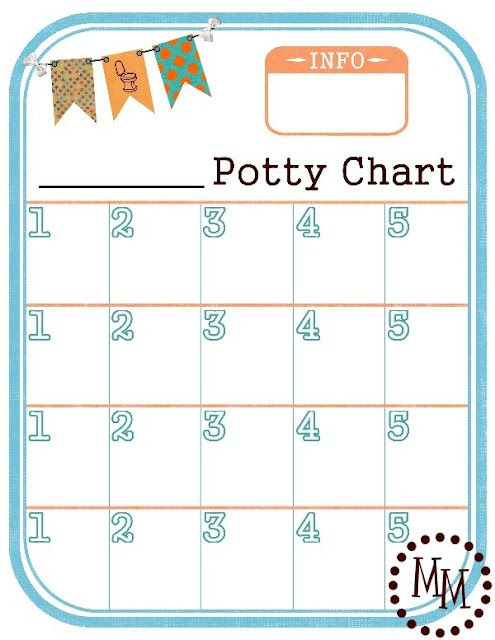 FREE PRINTABLE POTTY CHART. I use this as incentive for Paisli's nighttime training. She likes to put a star in the square when she stays dry that night.