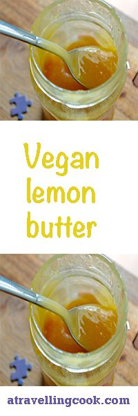 egg free, dairy free lemon butter! Works fabulously slathered on toast or scones or sandwiched between sponge cake layers or cookies. #vegan #eggfree #dairyfree