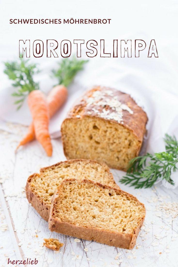 Brot Rezepte - schwedisches Möhrenbrot von herzelieb. Dieses Brot Rezept ist etwas ganz besonderes. #brot #rezept #foodblog #herzelieb