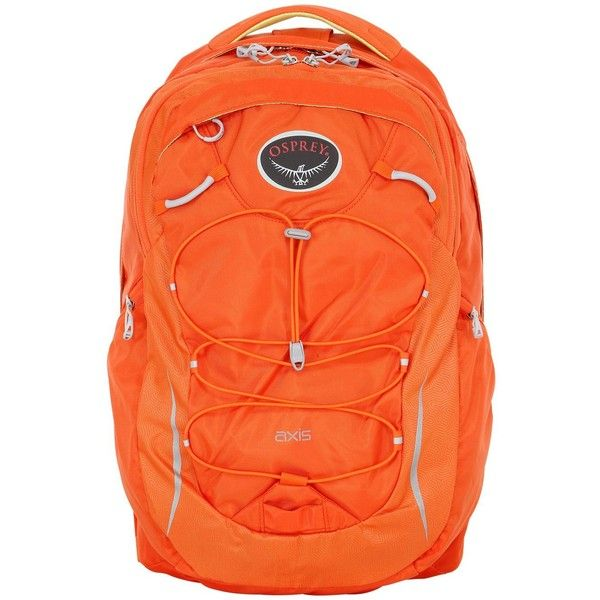 OSPREY 18l Axis Everyday Backpack (98 CAD) ❤ liked on Polyvore featuring bags, backpacks, laptop rucksack, osprey bags, orange bag, orange laptop bag and rucksack bag