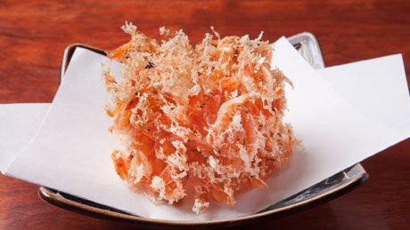 fleshy fried Sakura-Shrimps from Shizuoka, Japan. 桜えびのかき揚げ