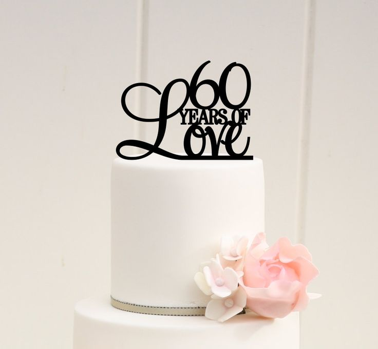 60 #Years of Love Cake #Topper - 60th #Anniversary Cake #Topper,  View more on…