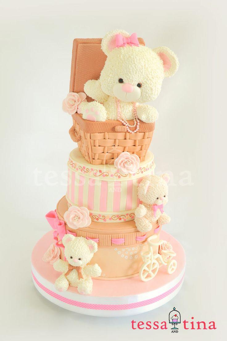 1802 best teddy bear cakes images on pinterest teddy bear cakes