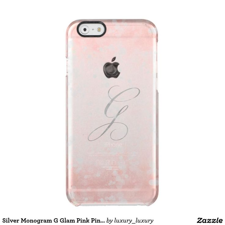 Silver Monogram G Glam Pink Pink Bokeh iPhone Clear iPhone 6/6S Case