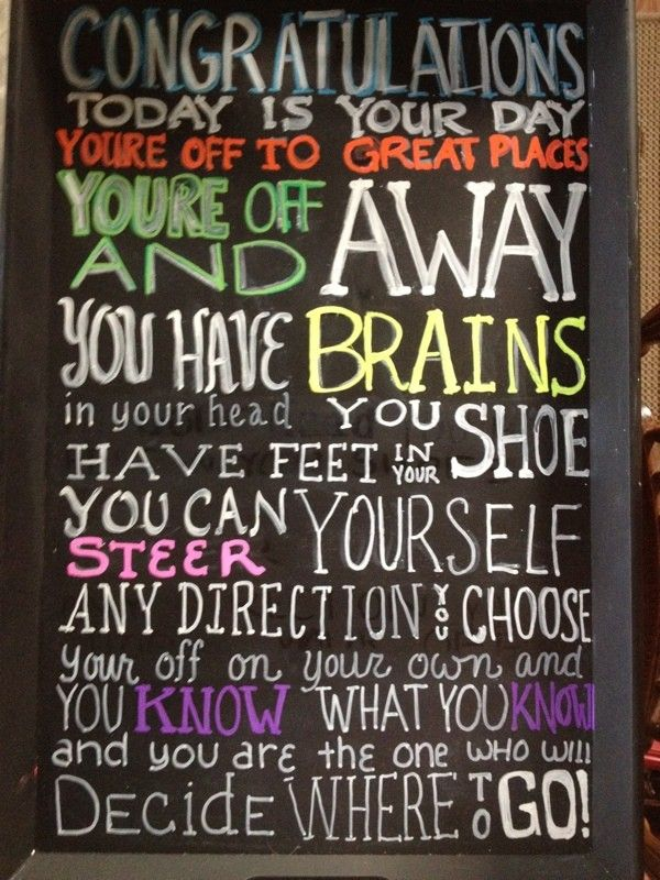 Graduation Party - Dr Suess Quote - Oh the Places you'll Go!