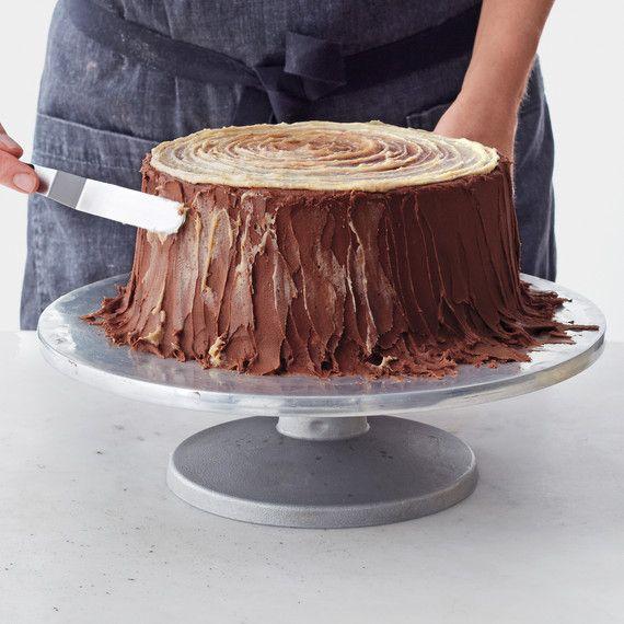 Yule-Log Layer Cake – Motivtorten