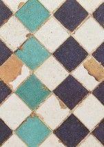 €189,90 Precio por rollo (por m2 €45,87), Coordonné, Material base: Papel pintado TNT, Superficie: Liso, Aspecto: Brillante, Diseño: Imitación a baldosas, Color base: Marrón beige, Blanco crema, Violeta negro, Turquesa, Color del patrón: Marrón beige, Blanco crema, Violeta negro, Turquesa, Características: Buena resistencia a la luz, Difícilmente inflamable, Fácil de desprender en seco, Encolar la pared, Resistente al lavado