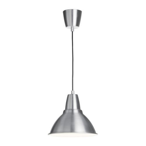 IKEA FOTO Pendant lamp Aluminium 25 cm Gives a directed light; good for lighting up for example dining tables or bar tops.