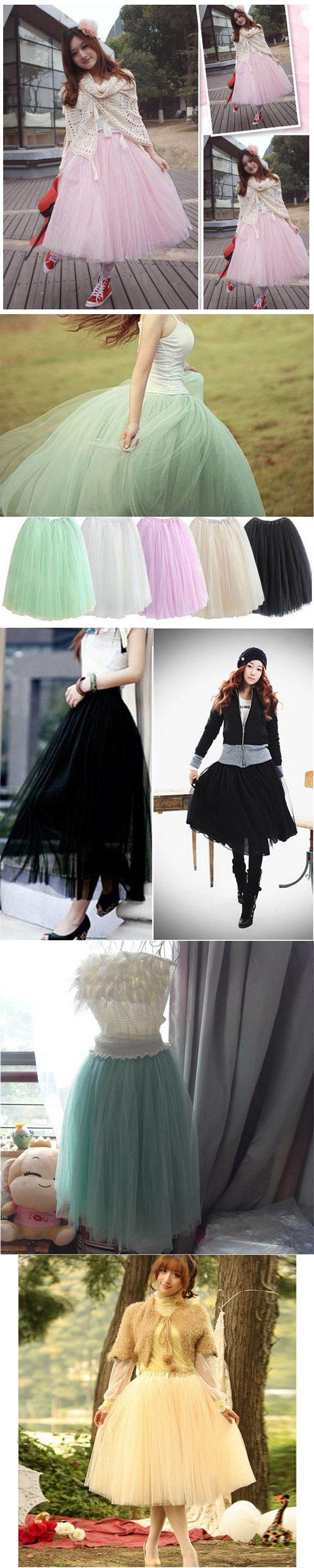 Women Lace Adult Tutu Skirt 5 layers Voile Tulle Skirt Bouffant Long Princess Puffy Skirt Autumn Ball Gown Pleated Midi Skirts