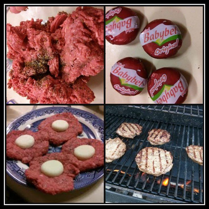 Babybel Stuffed Burger - Pinterest365 | Pinterest365