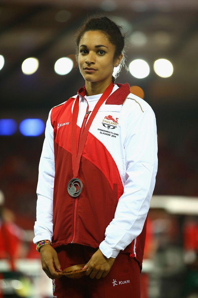 Silver medallist Jodie Williams of England