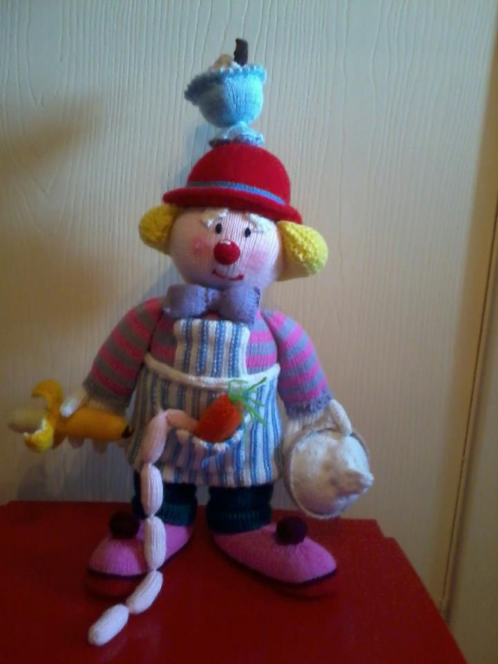 Knitting Patterns Toys Jean Greenhowe : Made from jean greenhowes clown knitting book knitted