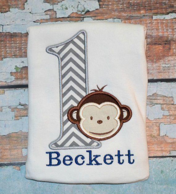 Monkey Birthday Shirt Boys Monkey Birthday by SpoiledSweetkids