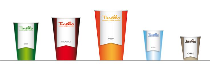 Food. Logo and corporate identity. Illustrator - Paper cups.