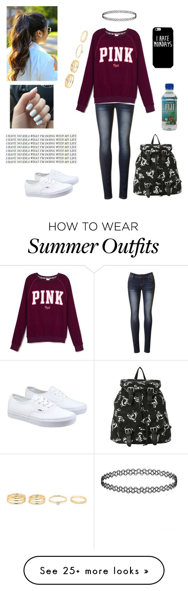 """""""Quick Monday Outfit"""" by malenamendes13 on Polyvore featuring moda, Vans, women's clothing, women's fashion, women, female, woman, misses e juniors"""