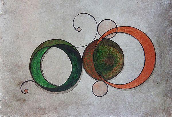 Relógio Mecânico é uma pintura de pequeno formato em acrílico sobre papel, parte de uma pequena série relacionada ao tempo, criada em 2012