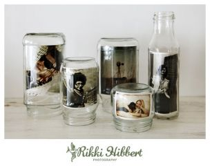 What a great way to use old jars!: Idea, Photo Display, Diy'S, Glasses Jars, Picture Frames, Mason Jars, Display Photo, Pictures Frames, Crafts
