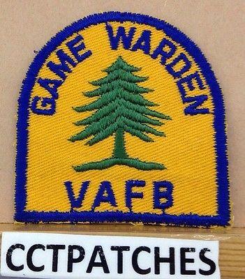 VINTAGE-VANDENBERG-AIR-FORCE-BASE-CALIFORINA-GAME-WARDEN-PATCH