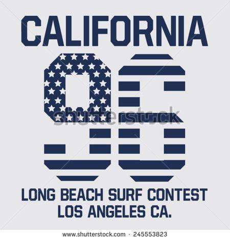Sport college surf typography, t-shirt graphics, vectors