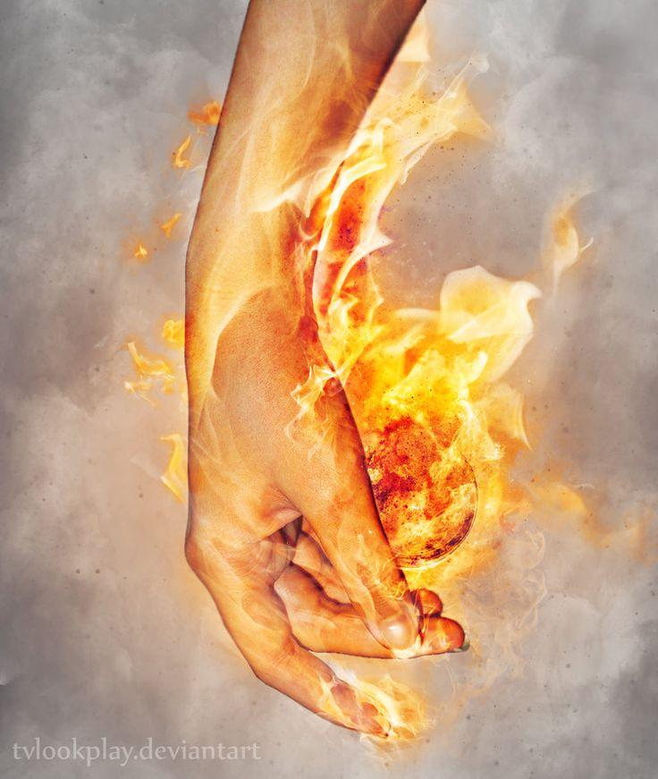 Hand Element: FireBall #2 by tvlookplay.deviantart.com on @deviantART