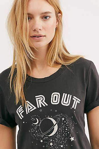 9f1c37a0 Far Out Tee | Fashion in 2019 | Tees, T shirts for women, Women