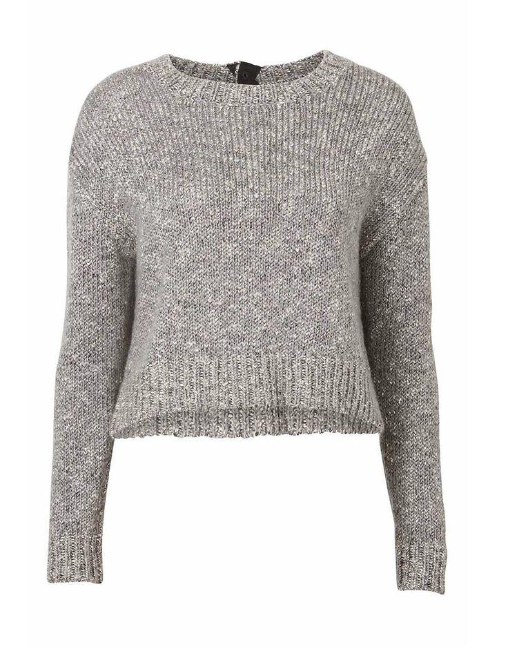Mottled Crop Knit