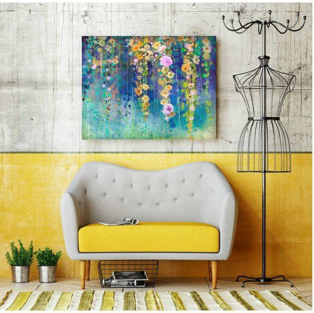 Modern Turquoise Metal Wall Art Festooning - Wall Art Collections ...