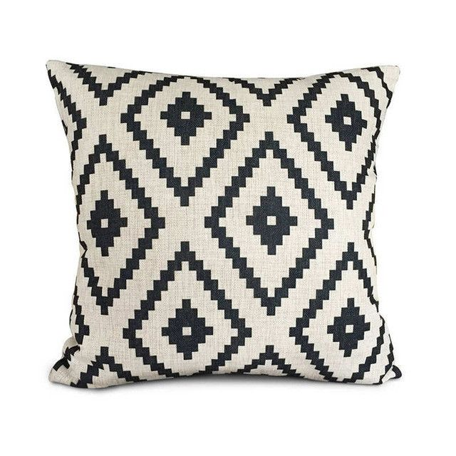 Linen Printed 18x18 Inches Euro Pillow Covers - Free Shipping