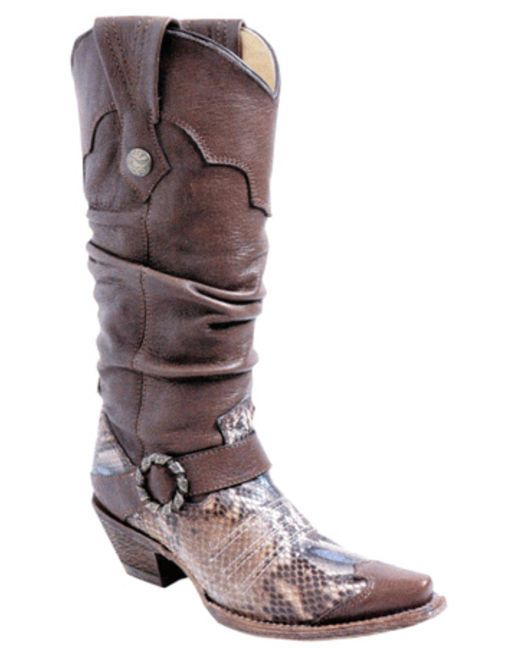 Cool boots: Cowgirl Boots, Slouch Boots, Women Silver Brown, Python Boots, Silver Brown Python, Python Slouch, Cowboys Boots, Corral Women, Corral Boots