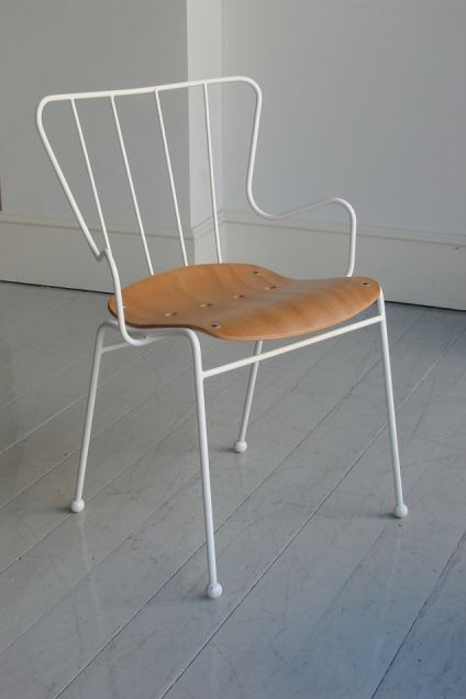 ERNEST RACE 'ANTELOPE' STACKING ARMCHAIR