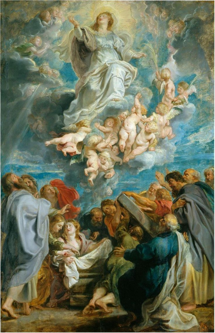 the Assumption into Blessed Mother into heaven...Rubens...feast day August 15th