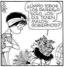 Resultado de imagen para caricaturas de politica de mafalda