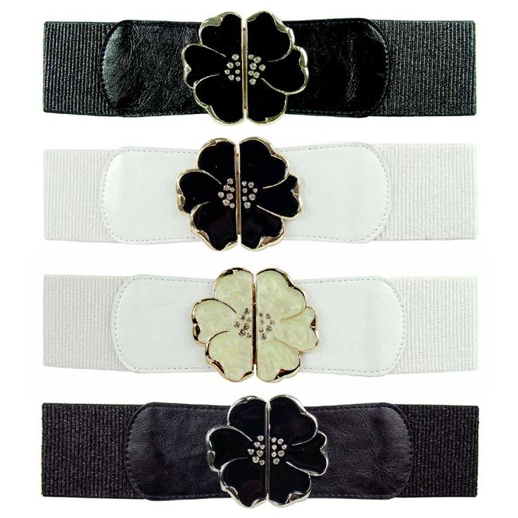 Flower featured Adjustable Belt <br />Size: 72cm <br />
